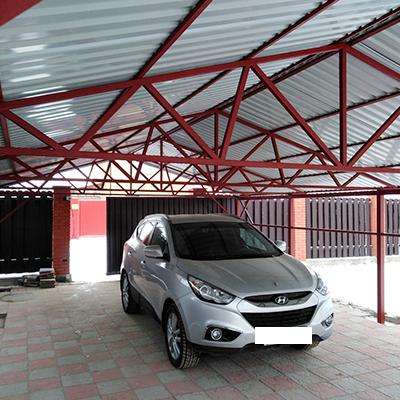 Строительство навеса для авто